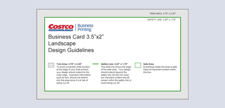 business card design guidlines - Costco Business Card Printing